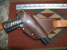 Colt Remington Springfield Ruger RIA Model 1911 Cross Draw Brown Leather Holster
