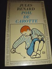 Poil De Carotte Jules Renard  1965 Flammarion Paris Paperback ( French Text )