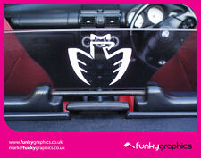 TOYOTA MR2 ROADSTER MK3 LOGO WIND DEFLECTOR DECAL / STICKER / GRAPHIC x1