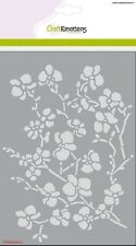 Craft Emotions A5 ORCHID BRANCHES 1236 Embossing Stencil Cardmaking