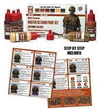 Andrea Miniatures WW2 WSS Autumn Camo Camouflage Paint Set 6 Bottles