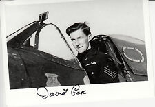 RAF Spitfire Battle of Britain Ace COX DFC signed photo cockpit