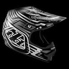 "2016 Troy Lee Designs AIR ""Scratch Matte Black"" XXL 2X MX Helmet TLD Motocross"