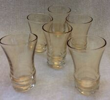 ANTIQUE SHOT GLASSES - Set of 6 -- 1930's? Carnival Glass? Exquisite Condition!