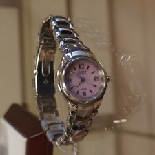 Citizen Eco Drive Ladies Silhouette Sport Stainless Steel Pink Dial Watch