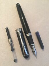 JINHAO X750 BLACK CT FOUNTAIN PEN-M NIB-CONVERTER-INK CARTRIDGE-UK-STOCK