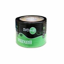 50 x  MAXELL DVD+R BLANK DISCS RECORDABLE DVD PLUS 16x 4.7GB SHRUNKWRAP