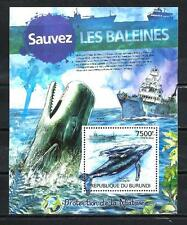 Burundi 2012 sauvez les baleines bloc n° 229 neuf ** 1er choix