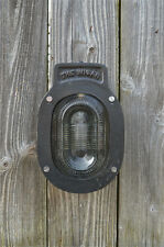 The Wigan heavy cast iron blast proof engine room bulk head light wall light N