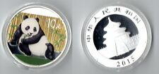 China 10 Yuan 2015 Panda 1 oz silver ounce colored