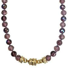 NEW KIRKS FOLLY GODDESS CRYSTAL MAGNETIC ENHANCER NECKLACE  GT/DUSTY PURPLE