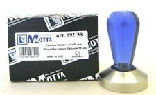 Motta Tamper 692 Kaffeestampfer, 58mm, 58 mm plan Rainbow blau
