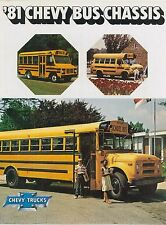 1981 CHEVROLET CHEVY BUS CHASSIS PROSPEKT BROCHURE CATALOGUE ENGLISCH (USA)