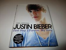 Justin Bieber 100% Official First Step 2 Forever My Story Hardback Book