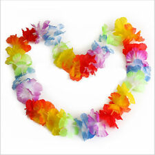 10PCS 96cm Hawaiian Beach Necklace Leis Lei Flower Decorations Crafts Luau Party