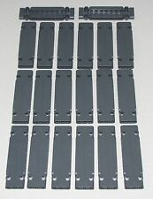 Lego Lot of 20 New Dark Bluish Gray Technic Panels Plates 3 x 11 x 1 Parts