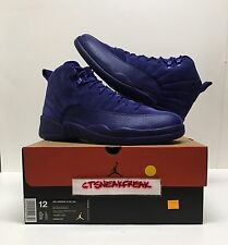 Nike Air Jordan 12 Retro Suede Size 12 Deep Royal Blue White 130690-400