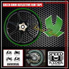 GREEN REFLECTIVE RIM TAPE WHEEL STRIPE TRIM CAR BIKE BICICYLE DECAL 16 17 18 19