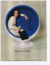 PUBLICITE ADVERTISING 104 1968 Sacs de DOFAN