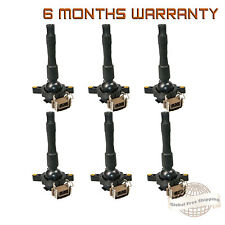 Set of 6 Ignition Coil on Plug Coils Pack For BMW 528i M5 840Ci 328i 740iL 750iL