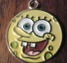 "5x 1"" Sponge bob's Smiley Face Necklace/Bracelet Pendant Charm Jewelry Bead Kids"