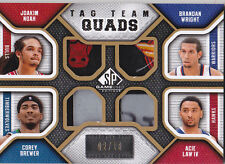 2009-10 SP Game Used Joakim Noah Brewer Wright Acie Law IV /10 Tag Team Quads