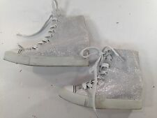 AIRSPEED GIRL'S OUTER SPACE GLITTER SEQUIN FASHION HIGH TOP SNEAKERS Sz 4 M