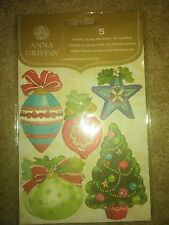 Anna Griffin 5pc 3-D Stickers - Christmas Kitsch -#1421