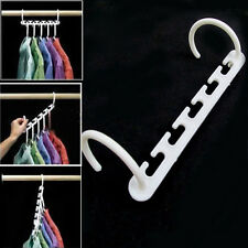 8 Pcs Space Saving Wonder Magic Clothes Hanger Rack Clothing Hook Organizer Set