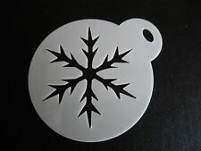Laser cut small snowflake design cake, cookie,craft & face painting stencil