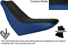 BLACK & ROYAL BLUE CUSTOM FITS HUSQVARNA TE 610 E DUAL LEATHER SEAT COVER
