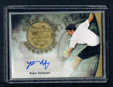 Ryler DeHeart signed autograph 2015 Leaf Ultimate Tennis Gold World Class 8/10