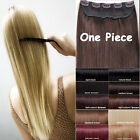 One Piece Clip in Remy Human Hair Extensions Black Brown Blonde High Quality