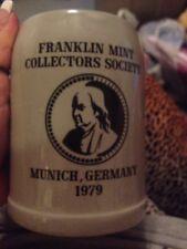 Franklin Mint Collectors Society Munich, Germany 1979 Beer Stein Mug 0.5L