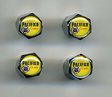 Pacifico Beer 4 Chrome Plated Brass Tire Valve Caps Car & Bike Pacifico
