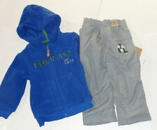 NEW TIMBERLAND 2 PC SET 18 MONTHS  TRACKSUIT BLUE GREY FLEECE AUTHENTIC
