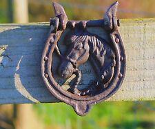 GHISA SHABBY CHIC portafortuna ferro di cavallo con batacchio Giardino Decorazioni GRATIS