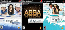 3 New Factory Sealed Singstar Games - Country, Abba & Pop - Free US Shipping
