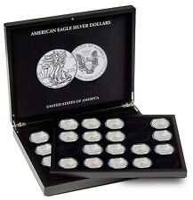Lighthouse Combo Mega Pack Eagle Silver Coin Case + 1 Tray + 40 Capsules SALE