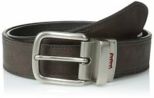 Levi's Men's Reversible Brown/Black Leather Belt w/Logo Buckle 11LV1297 M-34-36