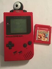 RED DMG-01 NINTENDO GAMEBOY GB CONSOLE +POKEMON RED VERSION GAME & CAMERA