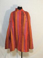 Jimmy Hourihan Orange Multi Wool Boru Cape Coat