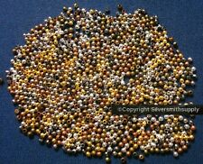 1000 pcs 2mm round seamed smooth spacer beads 6 plated finishes fpb213
