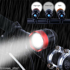3000LM XML T6 USB2.0 Interface LED Bicycle Torch Headlamp Headlight 3Modi+2xRing