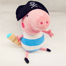 32CM PEPPA PIG FAMILY (PIRATE GEORGE PIG) PLUSH KID BABY SOFT TOY STUFFED DOLL