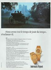 PUBLICITE  MONTRE AUDEMARS PIGUET   WATCH    AD  1983  * 4G-b