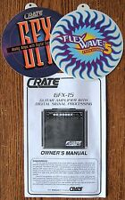 CRATE GFX-15 DSP Amplifier Amp Owner's Manual User's Guide Booklet + Ad Cards