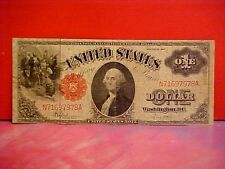 $ 1 ONE DOLLAR BILL 1917 Large Size Red Seal Bank Note USA