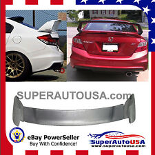 For 2012-2015 Honda Civic 4DR MUG Style Unpainted Black Rear Trunk Spoiler Wing