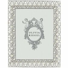 "Olivia Riegel Pegeen 5"" x 7"" Picture Photo Frame Swarovski crystals/pearls"
